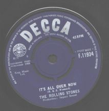 The Rolling Stones - Its All Over Now c/w Good Times, Bad Times
